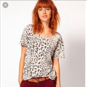 Current Elliott relaxed leopard tee